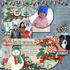 Let It Snow! - Scrapbook.com  Layout
