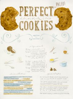 Perfect Paleo Chocolate Chip Cookies by Merit + Fork for Our Paleo Life | nut-free, grain-free, egg-free, refined-sugar-free #paleo cookies! So delicious!