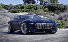 At this year's gathering of the most magnificent classic cars at Pebble Beach in California, Mercedes-Benz is once again set to present a highlight: the Vision Mercedes-Maybach 6 Cabriolet. Mercedes Benz Maybach, Benz Car, Maybach Coupe, Mercedes Benz 2017, Mercedes Concept, Mercedes Sport, Custom Mercedes, Bmw Sedan, Cabriolet