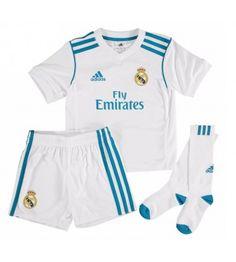 Real Madrid Home Kids Soccer Kit Children Shirt And Shorts - Cheap Football Shirts Store Soccer Kits, Kids Soccer, Cheap Football Shirts, Kids Shirts, Ac Milan Shirt, Real Madrid Soccer, Gareth Bale, Shirt Store, Ronaldo