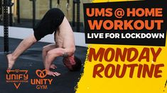 Monday's UMS at home workout routine balancing strength, flexibility & cardio + core & abdominal strength - It's peak week! Home Exercise Routines, At Home Workouts, Core Training Exercises, Trigger Point Massage, Online Coaching, No Equipment Workout, Stay Fit, How To Stay Healthy, Cardio
