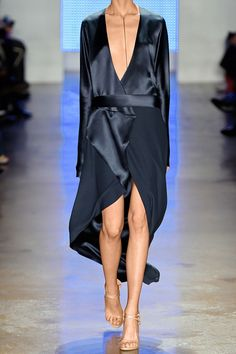 Dion Lee | Wrap-effect silk-satin crepe dress | NET-A-PORTER.COM @sommerswim