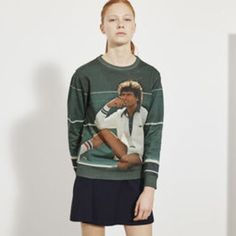 Sweatshirt Vintage Ads imprimé photo XXL LACOSTE