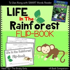 Great packet to aide your students' comprehension and vocab while reading Life in the Rain Forest (Smart Words Reader) by Christine A. Caputo. It includes a wide variety of activities such as multiple choice, fill in the blank, compare and contrast using criteria, answering questions in complete sentences, categorizing, picture labeling, text to self connections, and more!