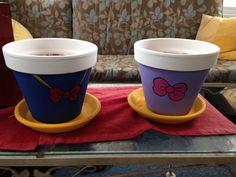 Daisy and Donald ducks Disney flower pots