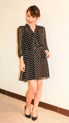 Taylor Swift Inspired Polka Dot Dress Look