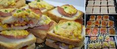 Recept Zapekané pizza toasty Pizza Sandwich, Meat Recipes, Cooking Recipes, Sandwiches, Dinner For Two, Christmas Goodies, Bon Appetit, Sushi, Ketchup
