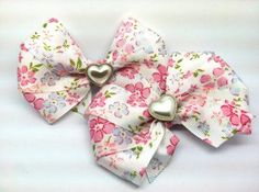 These Hair Bow Set is adorable!! Vicky's Bows has handmade accessories created from new, recycled and re purposed textiles and materials! you can Shop @ http://www.zibbet.com/Vicky5Bow5