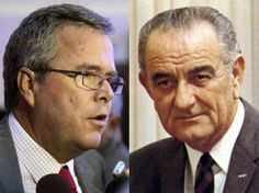 """ANOTHER REASON NOT TO VOTE FOR JEB BUSH..... Jeb Bush: I Would Govern Like Lyndon Johnson as President IMO: One very scary statement. LBJ was a closet socialist who took everything the Democrat Party tried to say it stood for and dumped it all in the trash bin of Marxism. His """"Great Society"""" was nothing short of a Communist Utopia being installed in America. Look how well this turned out!"""