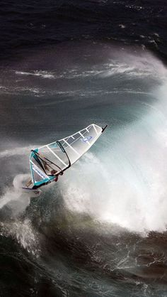 ♀ water , sports, wind surfing, wave movement