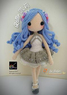 Ravelry: Kallie Amigurumi Doll pattern by Jeslyn Sim Crochet Doll Tutorial, Crochet Doll Pattern, Crochet Dolls, Crochet Patterns, Crochet Amigurumi, Amigurumi Doll, Crochet Mignon, Crochet Doll Clothes, Crochet Basics