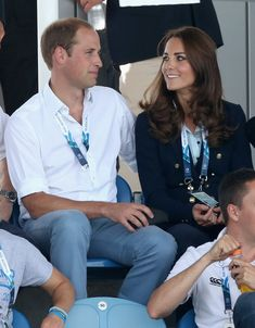 Catherine, Duchess of Cambridge and Prince William, Duke of Cambridge watch Scotland Play Wales at Hockey at the Glasgow National Hockey Centre during the 20th Commonwealth games on July 28, 2014 in Glasgow, Scotland.