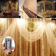 Battery Operated 300 LED Curtain String lights w/ Remote ... https://www.amazon.com/dp/B07196XBHH/ref=cm_sw_r_pi_dp_x_OfCszbEM8RN1E