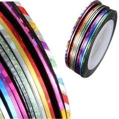 32 pcs nail Sticker Fil Bandes Striping Tape Autocollant Manucure Ongle Nail Art Tips | Your #1 Source for Beauty Products