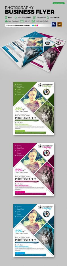 Photography Flyer Template PSD, Vector EPS, AI #design Download: http://graphicriver.net/item/flyer-photography-111/14279859?ref=ksioks