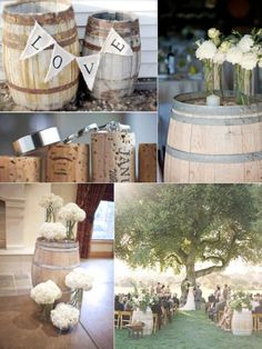Decoraci n con barriles on pinterest wine barrels bodas for Wine country decorating ideas