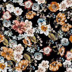 Saemless Flowers Pattern by Eduardo Doreni Seamless Repeat Royalty-Free Stock Pattern
