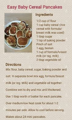 Easy Baby Cereal Pancakes Recipe