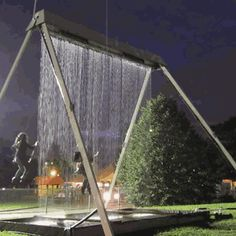 Swinging through a wall of water - GIF on Imgur