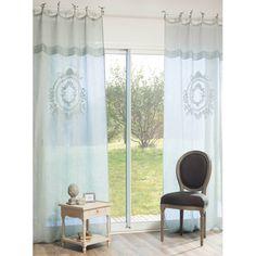 Tenda blu in lino 105 x 270 cm VOLANGES Maison du Monde ATTENZIONE H 270