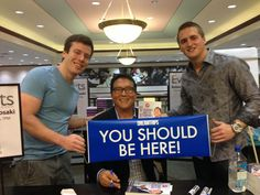 """Best Selling author of """"Rich Dad, Poor Dad"""" Robert Kiyosaki is all smiles with the You Should Be Here banner Vacation Club, Vacation Trips, Dreamtrips Worldventures, Hotel Packages, Rich Dad, Winter Love, Robert Kiyosaki, All Smiles, Discount Travel"""