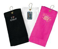custom bling golf towels www.titaniagolf.com
