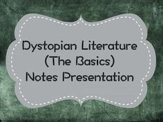 I use this presentation every year with my students. I have them take Cornell Notes as we go over the basic information on dystopian literature. It's a really great introduction for their dystopian novel study!