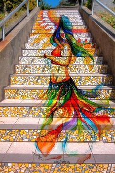 Mosaic staircases in San Francisco.....stunning!