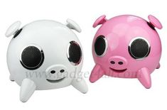 adorable pig speakers Four Adorable Pig Speakers for Bacon Lovers