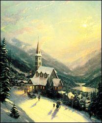 Moonlit Village ~ Thomas Kinkade