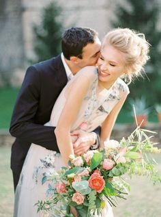 Romantic and Organic Art Nouveau Inspired Wedding