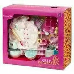 Our Generation Home Accessory - Kitchen Baking Set : Target Mobile Our Generation Doll Accessories, My Life Doll Accessories, American Girl Accessories, American Girl Doll Room, American Girl Furniture, American Girl Crafts, Og Dolls, Girl Dolls, Poupées Our Generation