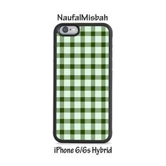 Green Plaid iPhone 6/6s HYBRID Case Cover