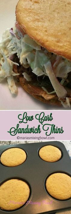 Low Carb Sandwich Thins - the perfect choice for any sandwich. Breakfast, lunch or dinner (keto pizza rolls) Keto Foods, Ketogenic Recipes, Keto Recipes, Cooking Recipes, Healthy Recipes, Bisquick Recipes, Ketogenic Diet, Pescatarian Recipes, Ketos Diet