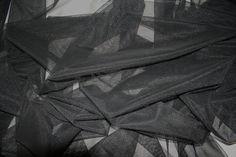 Black stretch Tulle lycra Netting Bridal  by BodikianTextiles