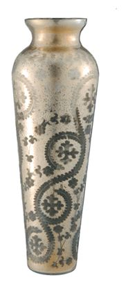 Tall Gold Glass Vase - 22 inches Tall  $165.00 - On Sale - please click on image for purchase info...