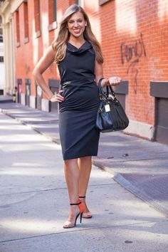 (Suits and the City): Stylish Business Teams: Danielle Weisberg, co-founder, theSkimm, wearing a Calvin Klein dress from Rent the Runway, Zara shoes, and jewelry from her family.