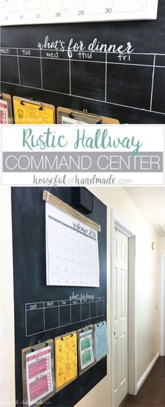 A must-have for every house!  I love this Rustic Hallway Command Center - perfect to keep a busy family organized!