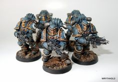40k - Ultramarines in Pre-Heresy Armour #warmongers #wh40k