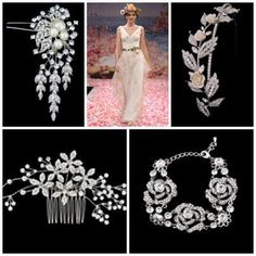 Floral Accessories www.vintagebridaljewellery.co.uk