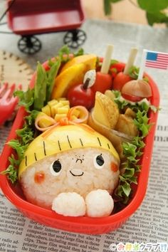 お弁当 レシピ | アメリカンガールのお弁当 | キャラクター弁当 | found MUM(ファウンド マム)
