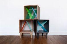 Cube de rangement L'Ecume des jours - Collection de meubles cousus par Elsa Randé // © Elsa Randé