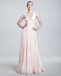 annas Blush Wedding Gown.