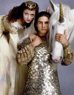 Tom Cruise as Jack and Mia Sara as Lili in the movie Legend. :)
