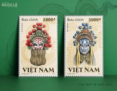 Vietnamese theatre stamp design illustration by Ngọc Lê Chinese Opera Mask, Vietnam, Behance, Art Direction, Art Drawings, Character Design, Poster Prints, Illustration Art, Stamp