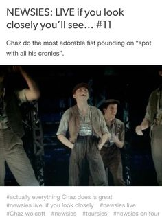 NEWSIES: LIVE  if you look closely you'll see #11 Credits: nobody-told-the-Horse //tumblr