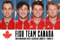 Congrats to Abraham Bailie Doggett and Ming who were named to the FISU Team Canada  men's hockey team!  Canada is coached by Gaels bench boss Brett Gibson and Queen's athletic trainer James Sawchuk will be a member of the staff as well #GoGaelsGo