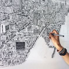 Diagnosed with autism at age three, Stephen Wiltshire is now famous for producing highly detailed scenes after just a brief glance.