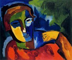 Karl Schmidt-Rottluff im Brücke-Museum. Ernst Ludwig Kirchner, Emil Nolde, Abstract Faces, Abstract Portrait, Kandinsky, Matisse, Vincent Van Gogh, Karl Schmidt Rottluff, Critique D'art