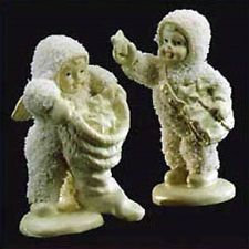 "Retired Dept. 56 Snowbabies Pewter Miniature 76704 ""With Hugs & Kisses"" NIB"